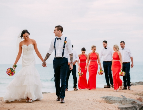 Stunning Model Kate & her Gorgeous Man Zac's Beach Wedding